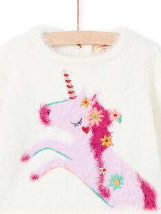 Jersey de color crudo y rosa para bebé niña MITUPUL / 21WG09K1PUL001