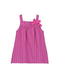 Vestido con estampado de fantasía para bebé niña FIJOROB9 / 19SG09G4ROB712