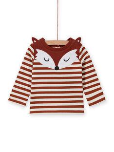 Camiseta de rayas y estampado de zorro para bebé niño MUSAUTEE1 / 21WG10P1TMLI803