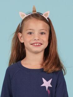 Diadema de unicornio con brillo para niña MYAJOSERR3 / 21WI01S3TETP275