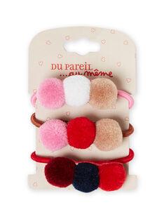 Pack de gomas para el pelo a juego para niña MYAJOELA7 / 21WI01S3ELA420