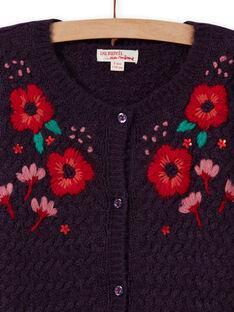 Cárdigan de manga larga con bordados florales para niña MAFUNCAR2 / 21W901M1CARH703