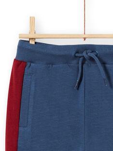 Pantalón de chándal de color azul marino y rojo para niño MOPAJOG / 21W902H1JGB219