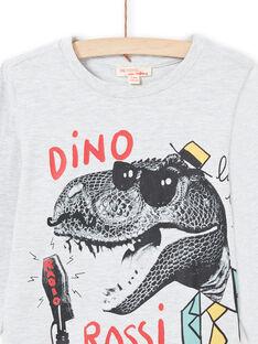 Camiseta de color gris jaspeado para niño MOJOTEE1 / 21W90228TMLJ920