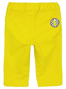 Pantalón de color amarillo GUJAUPAN2 / 19WG10H2PANB114