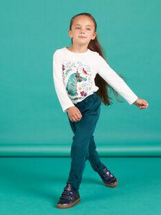 Pantalón paperbag de punto milano de cuadros para niña MATUPANT / 21W901K1PAN070