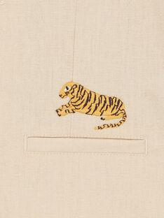 Chaleco de traje beige - Niño LOJAUGIL / 21S902O1GSMA014