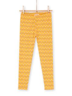 Leggings amarillos para niña LYAPOELEG / 21SI01Y1CAL107