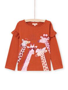 Camiseta de color caramelo para niña MACOMTEE3 / 21W901L2TML420