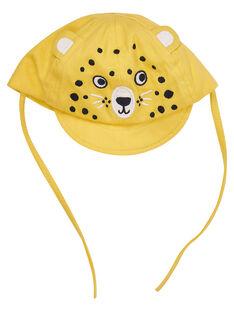 Gorra de color amarillo con bordado de tigre para bebé niño JYUTROCASQ / 20SI10F2CHAB114