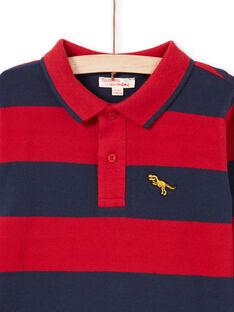 Polo rojo y azul marino de rayas para niño MOJOPOL6 / 21W90212POL505