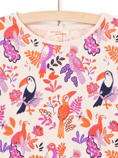 Camiseta de manga larga con estampado de pájaros de colores para niña MAPATEE / 21W901H1TMLD319