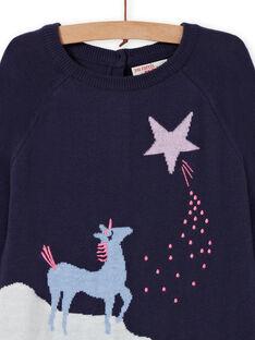 Vestido de manga larga con estampado de unicornio de fantasía para niña MAPLAROB1 / 21W901O2ROBC202