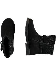 Botas negras para niña GFBOOTRICO / 19WK35X1D0D090