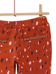 Pantalón forrado de color caramelo y con estampado de confeti para niña MACOMPANT / 21W901L1PAN420