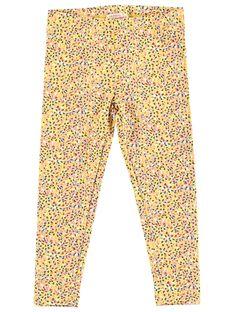 Leggings de color amarillo con lunares multicolor JYATROLEG1 / 20SI01F1CALB102