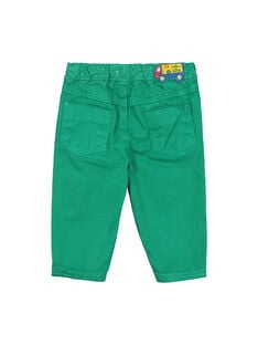 Pantalón de color verde para bebé niño FUJOPAN3 / 19SG1033PANG603