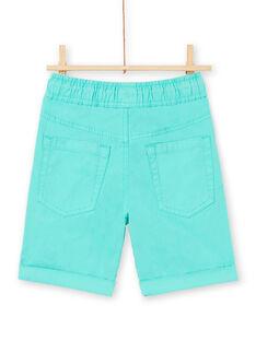 Bermudas de color turquesa para niño LOJOBERMU2 / 21S902F2BER600