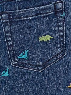 Bermudas vaqueras de color azul, con estampado de dinosaurios, para niño LOVERBER2 / 21S902Q1BERP274