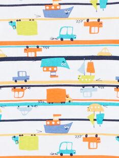 Body de manga corta con estampado coches para bebé niño LEGABODVOI / 21SH1425BDL000