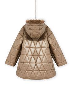Parka dorada con capucha para niña MAPLAPARKA / 21W90163PAR955