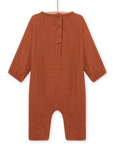 Mono marrón de gasa de algodón para recién nacido MOU1COM2 / 21WF0542CBLI810