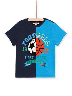Camiseta azul marino y azul para niño LOHATI1 / 21S902X2TMC705