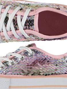 Tenis de lona con lentejuelas para niña FFTENSEQU / 19SK35C2D16030