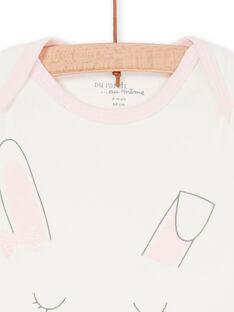 Body de color crudo y rosa, para bebé niña LEFIBODLAP / 21SH13G6BDL001