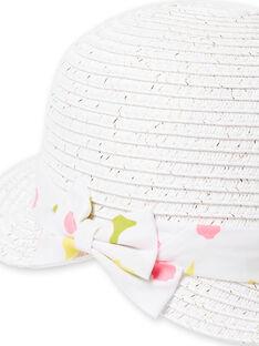 Sombrero blanco para bebé niña LYIBALCHA1 / 21SI09O2CHA000