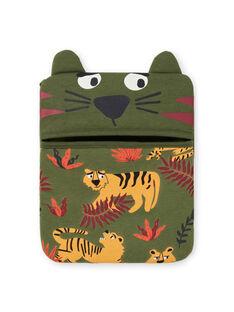 Pijama de color caqui fosforescente con estampado de tigres para niño MEGOPYJMAN3 / 21WH1273PYGG618
