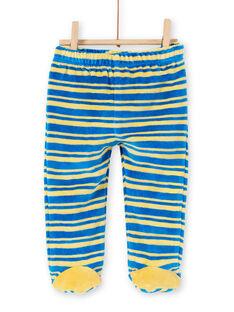 Pijama de terciopelo con estampado de león y jirafa para bebé niño LEFUPYJAMI / 21SH1411PYJC209