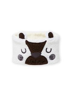 Cuello de color crudo con estampado de oso de sherpa para bebé niño MYUGROSNO / 21WI1061SNO001