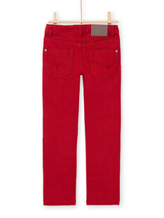Vaquero liso rojo para niño MOJOPAKNI3 / 21W90225PAN506