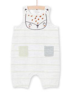 Peto de color crudo y verde de rayas unisex para recién nacido MOU1SAL2 / 21WF0541SAL001