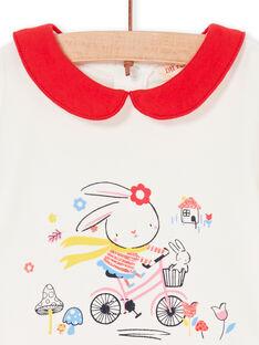 Body de color crudo y rojo, para bebé niña LIHABOD1 / 21SG09X2BOD001