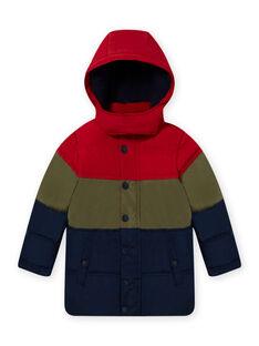 Anorak color block con capucha para niño MOGRODOU1 / 21W90251D3E505