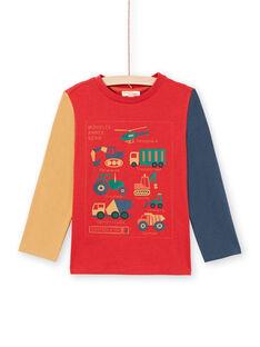 Camiseta de color rojo y naranja para niño MOCOTEE4 / 21W902L3TMLF521