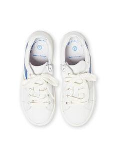 Zapatillas blancas y azules para niño LGBASLUCAS / 21KK3634D3F000