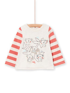 Camiseta de manga larga de rayas, para bebé niño LUPOETEE2 / 21SG10Y2TMLA011