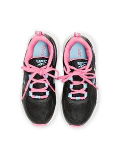 Zapatillas Reebok negras con detalles rosas para niño MAG57454 / 21XK3542D36090