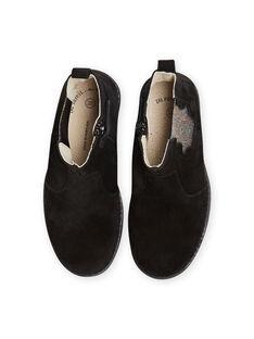 Boots de color negro de piel con detalles de brillo para niña MABOOTMEL / 21XK3576D0D090