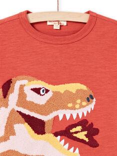 Camiseta naranja y amarilla para niño MOPATEE1 / 21W902H3TMLE415