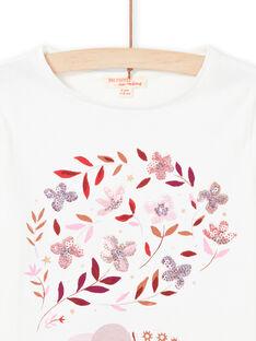 Camiseta de manga larga reversible con estampado de cerezas para niña MACOMTEE1 / 21W901L1TML001