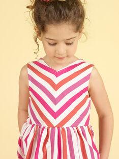 Vestido de rayas para niña LATEROB4 / 21S901V2ROB001
