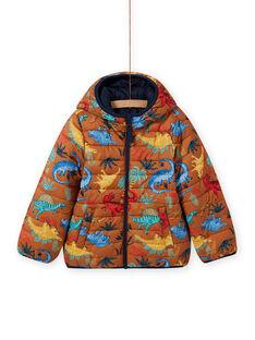 Cazadora con capucha acolchada y reversible para niño MOGROBLOU1 / 21W90254BLO804