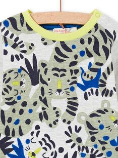 Camiseta de manga larga con estampado de tigres para niño MUKATEE1 / 21WG10I2TML006