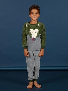 Pijama con estampado de lobo de soft boa para niño MEGOPYJBOA / 21WH1294PYJ628