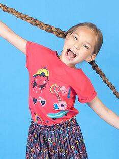 Camiseta de manga corta de color rojo para niña LAHATI1 / 21S901X1TMCF506
