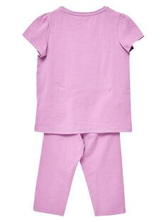 Pijama de punto de color malva para niña JEFAPYJTOUC / 20SH1122PYJH700